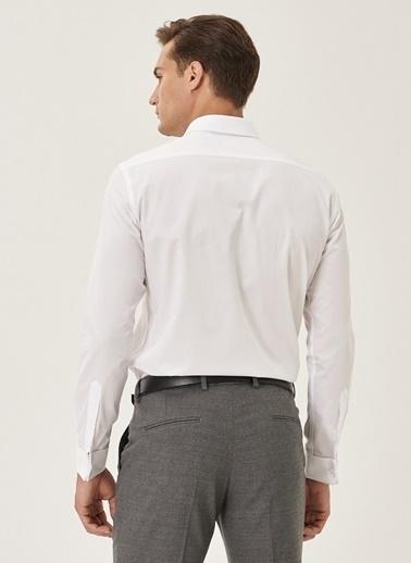 Altınyıldız Classics Tailored Slim Fit Duble Manşet Gömlek 4A2000000002 Beyaz